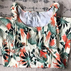 ASOS Maternity Dress with Tropical Design